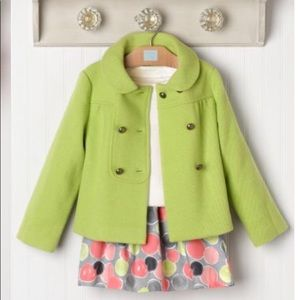 JANIE AND JACK Little Artiste EUC Green Coat